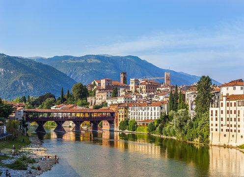 Old bridge in Bassano del grappa in Italy