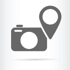 digital camera geo targeting icon