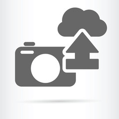 digital camera cloud image storage icon