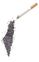 Ash shaped as Israel and a cigarette.(series)