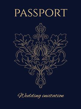 Wedding invitation passport