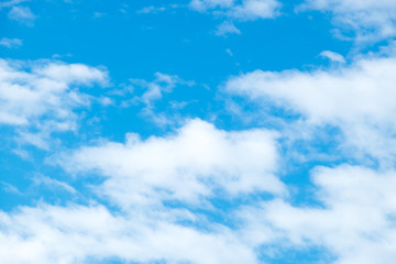 Cloud and Blue sky with sun ray ,Natural background