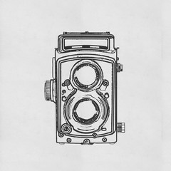 retro camera drawing