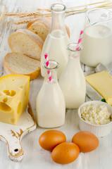 Tuinposter Zuivelproducten Milk products