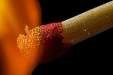 Match in fire