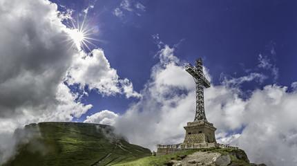 Caraiman Heroes Cross Monument in Bucegi Mountains, Romania