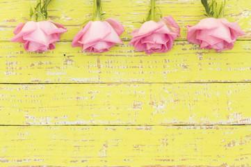 Shabby Chic Grußkarte Verliebt Rosa Rosen