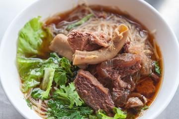 Beef noodles braised taste delicious