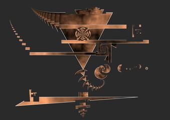 Arte digital surrealismo abstracto