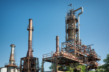old oil refinery