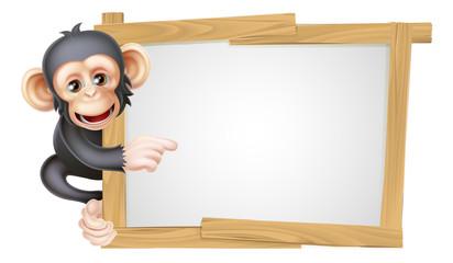 Cartoon Chimp Sign