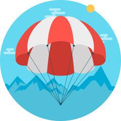 Art Flat parachute