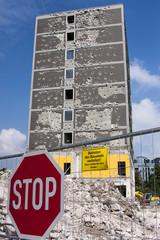 Stop Schild Baustelle