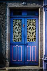blue grunge door
