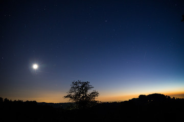 Sternenhimmel mit Horizont