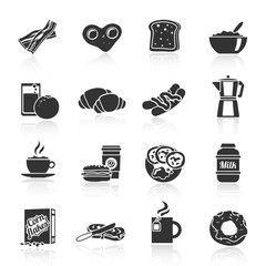 Breakfast icon black