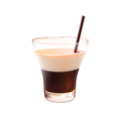 White russian cocktail realistic