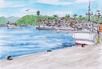越ヶ浜漁港