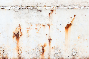 A background of peeling paint and rusty old metal Wall mural