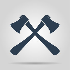The ax icon. Axe symbol.