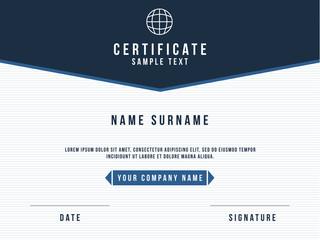 Vector Certificate Minimalism Template Design