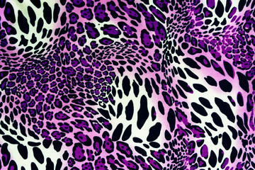 texture of print fabric stripes leopard for background