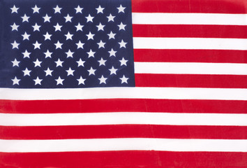 Closeup of United States of America flag