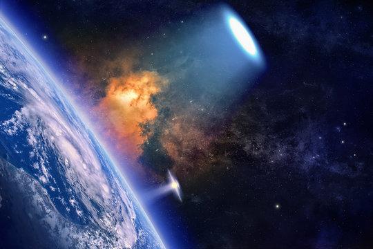 Ufo explores planet Earth