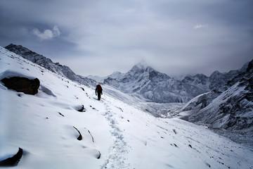 Road to Everest Base Camp in Sagarmatha National Park, Nepal Himalaya