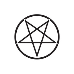flaming pentagram vector