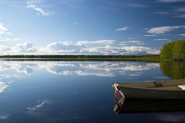 See in Lappland, Finnland