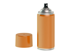 orange spray paint can