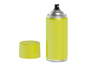 yellow spray paint can