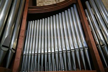 Organ in the Basilica of Saint Nicholas in Bari, Puglia, Italy