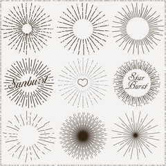 Vector Sunburst Shapes