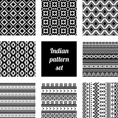 Indian pattern set.