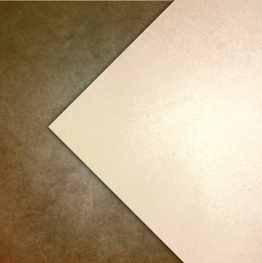 elegant brown white background texture paper with abstract angled triangle and diagonal shape layers