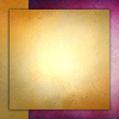 elegant gold background texture paper, faint rustic pink grunge border paint design, old distressed gold wall paint