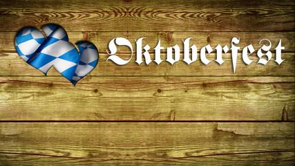 Oktoberfest in Holz mit Herz-Ausschnitt