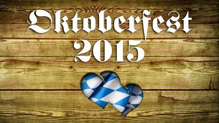 Oktoberfest 2015 in Holz mit Herz-Ausschnitt
