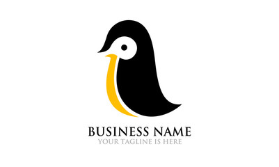Illustration of Simple Cute Penguin Logo