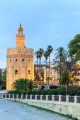 Golden Tower (Torre del Oro) of Seville, Andalusia, Spain