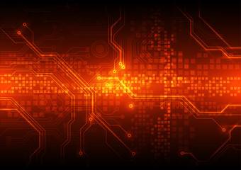 abstract vector circuit board background illustration