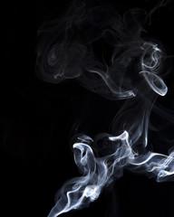 Smoke isolate on black background