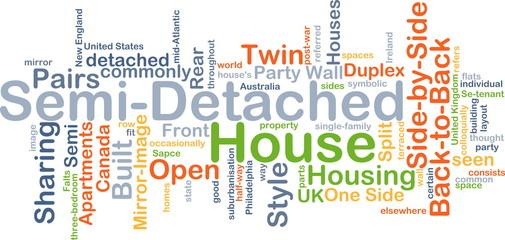 Semi-detached house background concept