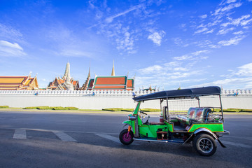 Tuk tuk parking for waiting a passenger, Bangkok Thailand