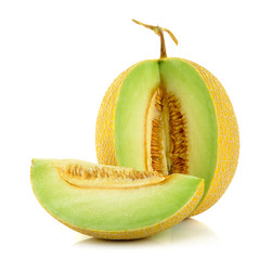 Cantaloupe melon isolated on the white background