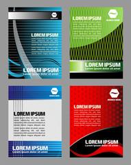 Vector design of flyer elements set