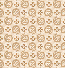 Seamless fancy paisley wallpaper