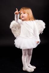angel girl in white